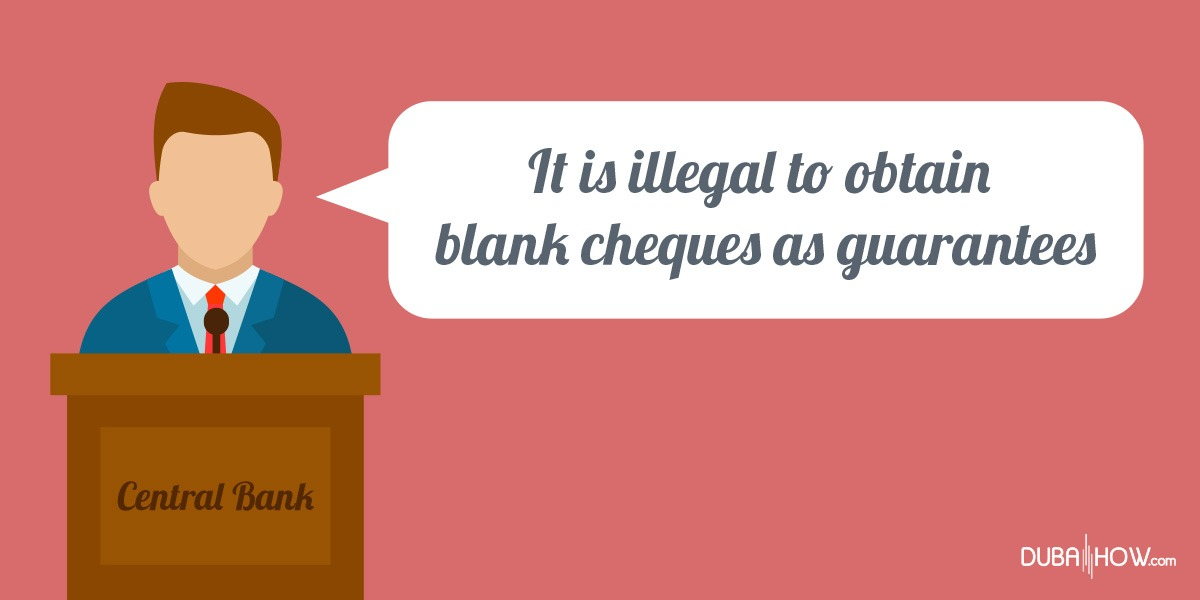 Blank cheques are illegal